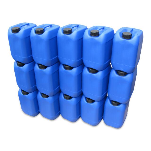15 Stück 10 Liter Kanister blau Camping Plastekanister Wasserkanister NEU DIN51.