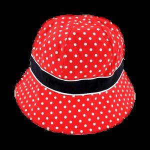 Red w// White Polka Dots 2T-5T Girls/' Cat /& Jack Toddler Floppy Sun Hat
