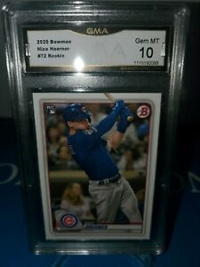 GMA-10-MINT-2020-BOWMAN-NICO-HOERNER-72-CHICAGO-CUBS-ROOKIE-RC-ROY