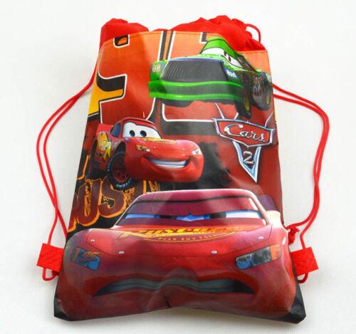 Cute Cars McQueen Cartoon Drawstring Backpack Kids School Bag