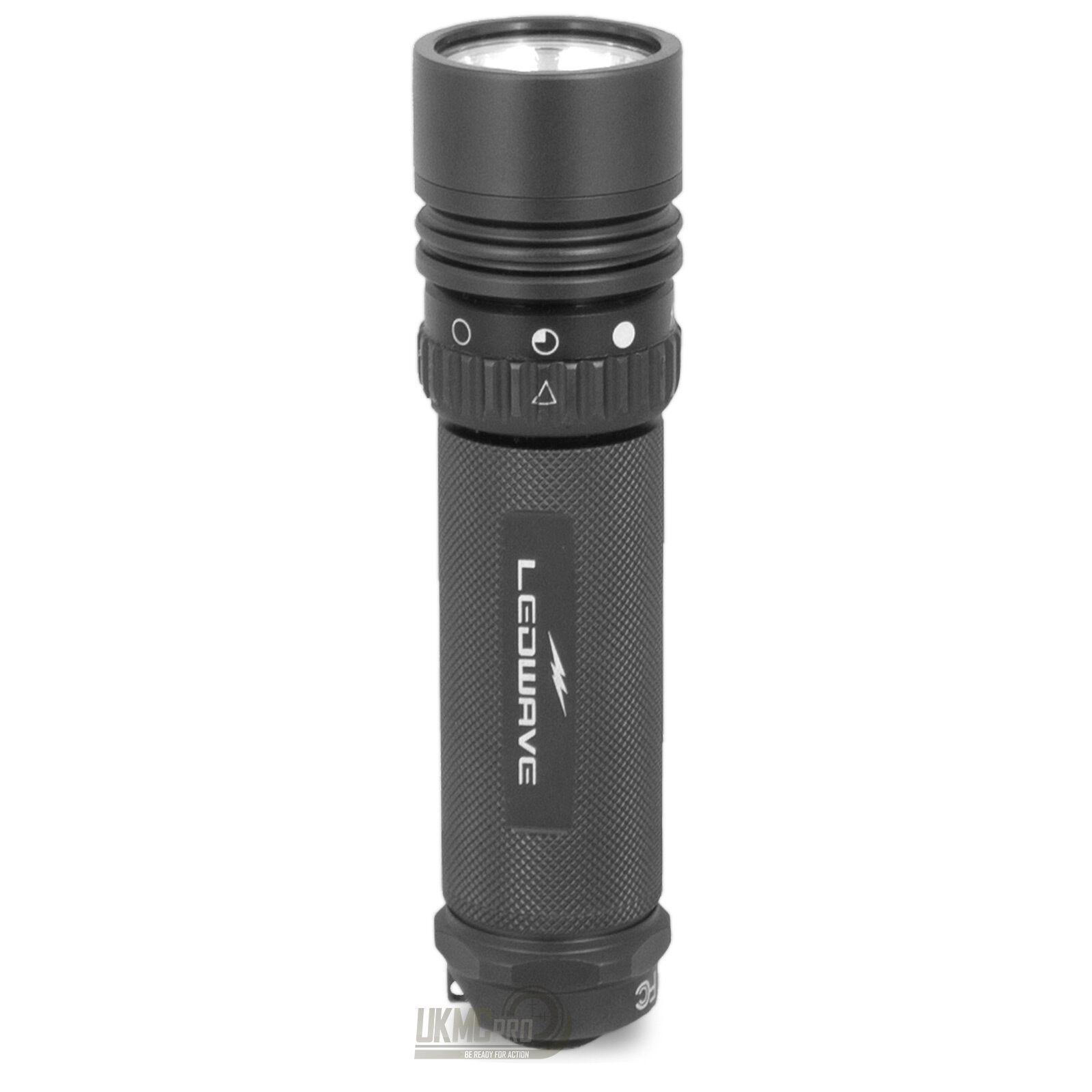 Ledwave PEL-5 Tactical Tac Police Equipment Light LED Handheld Torch Flashlight