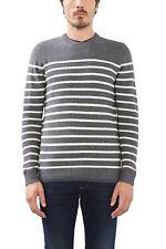 ESPRIT Men's Jumper Brand New With Tags Size Medium 106EE2I032 Grey/blue