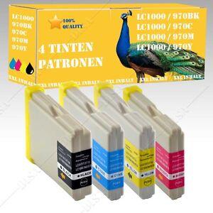 4x-Tintepatronen-kompatibel-mit-Brother-LC-970-LC1000-DCP-130C-DCP-135C-DiSa