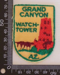 VINTAGE-GRAND-CANYON-USA-EMBROIDERED-SOUVENIR-PATCH-WOVEN-CLOTH-SEW-ON-BADGE