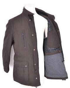 NEW HUGO BOSS MEN S BROWN  550 TABOS MILITARY RAIN COAT JACKET 38 48 ... 9b8071c4388