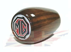 New Gear Shift Knob for MGA and MGB MG Midget 1955-1976 Wood with MG Logo Fast