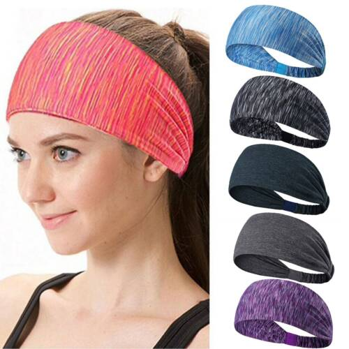 Damen Herrn Haarband Kopfband Stirnband Schweißband Sport Fitness Joggen Yoga DE