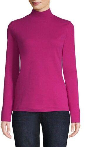 Women/'s St John/'s Bay Mock Neck Long Sleeve T-Shirt