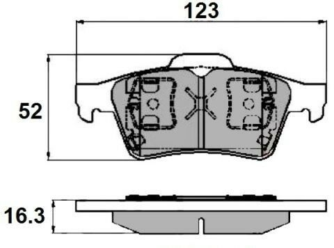 /> /> Tourneo Connect 03 Set of EB Rear Brake Pad/'s to fit Ford Focus 06