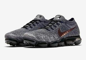 brand new 0bdbe c272f Image is loading Nike-Air-VaporMax-Flyknit-EXPLORER-Black-Rose-Gold-