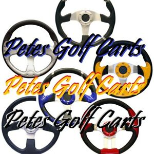 Golf-Cart-Steering-Wheel-Many-Colors-EZGO-Club-Car-Gem-Polaris-Tomberlin-Yamaha
