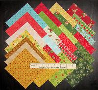 Christmas Fabric - 5 Charm Pack Square Kit Benartex 42 Squares - Santa's Here