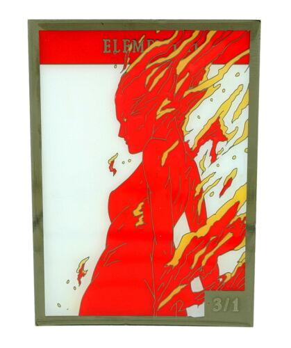 MTG MAGIC THE GATHERING 3//1 Red Elemental Creature Token MTG Metal Trading Card