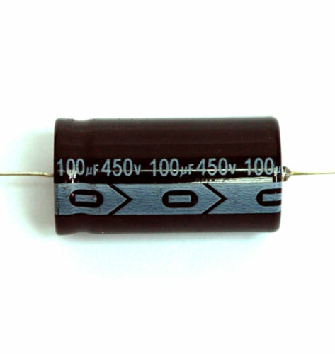 105℃ RoHS 100uF 450V φ22x43mm SC 6pc Electrolytic Capacitor GHA Axial 2000hr