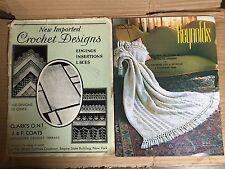 Vintage 1931 The Spool Cotton Company Crochet Designs & Reynolds Afghan Patterns