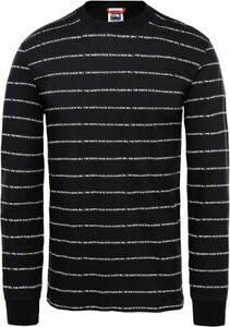 THE-NORTH-FACE-Stripes-T93S3PJK3-Pull-Over-T-Shirt-a-Manches-Longues-pour-Homme