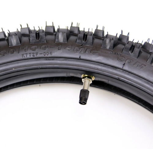 "Tube 110cc 125cc  PIT Trail Dirt Bike 60//100-14/"" Inch Front Knobby Tyre Tire"