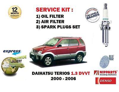 4x Daihatsu Terios 1.3 DVVT 4x4 Original Denso Iridium Power Bujías
