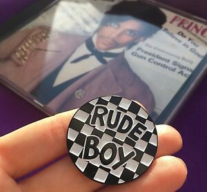 Rude-Boy-Controversy-Nickel-amp-Enamel-Pin-Badge-Button-Prince-Halloween-Costume