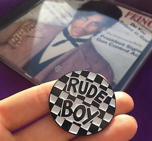 Rude-Boy-Controversy-Nickel-amp-Enamel-Pin-Badge-Button-Prince-Halloween-Costume