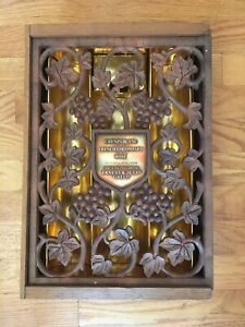 Vintage Ernest & Julio Gallo Wooden Wine Box with E & J G, Grapes, Vines Design