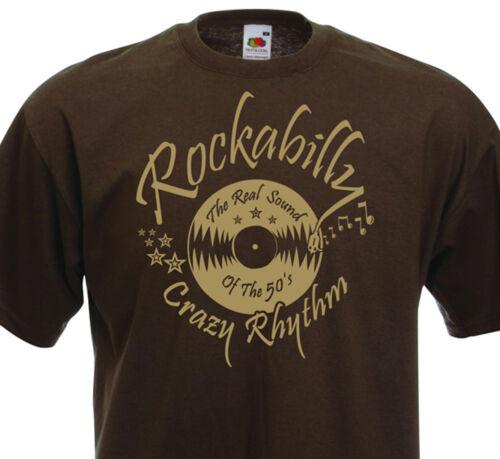 T-shirt ROCKABILLY Crazy Rhythm 50/'s fifties Rock/'n/'Roll Retro Vintage Oldies