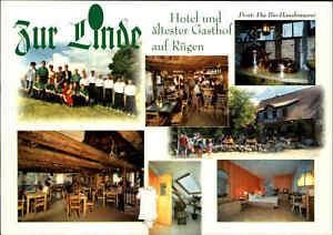 Middelhagen-Insel-Ruegen-Mehrbild-Postkarte-Landgasthof-Gaststaette-ZUR-LINDE