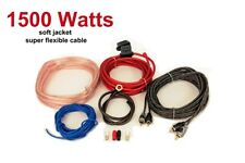 AMPLIFIER WIRING KIT 1500 WATT POWER CAR AMP AWG GAUGE SUB VAN CABLE FUSE HOLDER