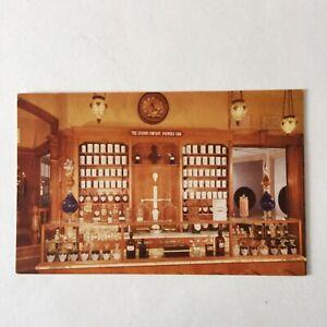 19th-Century-Prescription-Counter-Upjohn-Pharmacy-France-Hippocrates-Postcard