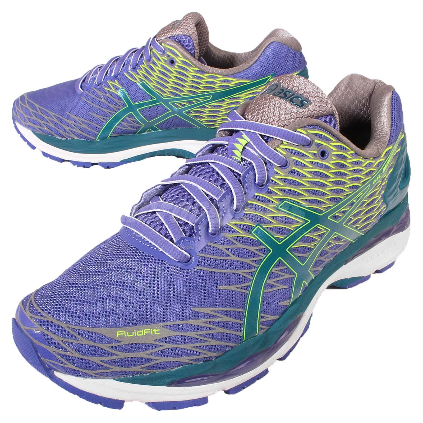 Asics Gel-Nimbus 18 Lite-Show Purple Green Mens Running Trainers T60XQ-5338