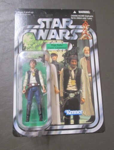 HAN SOLO YAVIN CEREMONY 2011 STAR WARS Collection Vintage VC42 Comme neuf on card non perforé