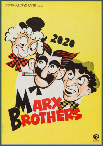 12 pages A4 Marx Brothers Silent Film Vintage Poster M511 2020 Wall Calendar