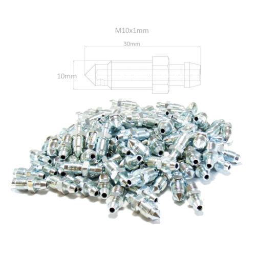 N90x100 Lot de 100 étrier de frein de purge Tétons de Purge Vis M10x1mm 30 mm long