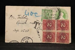 India-1926-Cover-to-the-USA-8c-Postage-Due-in-2c-Block-of-4