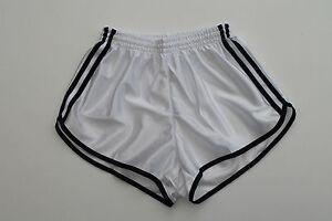 Frz-Vintage-Shorts-Gr-XXS-NEU-Sporthose-Short-Sport-Nylon-Glanz-shiny-weiss