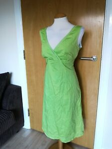 Ladies-Dress-Size-16-Green-Cotton-Smart-Casual-Day-Party-Summer-Holiday