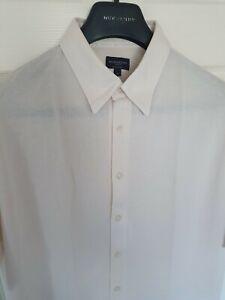 Para-Hombres-Camisa-Manga-Corta-Chic-Burberry-Golf-Tamano-Grande-Inmaculada-RRP-195