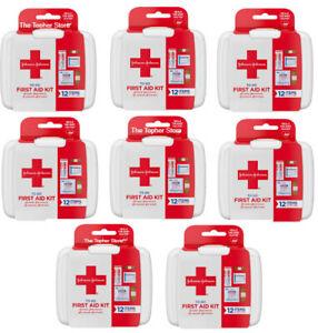 J&J Mini First Aid Kits, 12 Item Kit, Band-Aid, Perfect For Travel Scouts 8 Kits