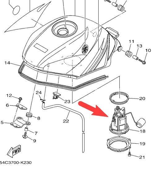 genuine yamaha yzf r15 r 15 fuel pump for sale online ebay yamaha outboard  wiring diagram yamaha r15 wiring diagram