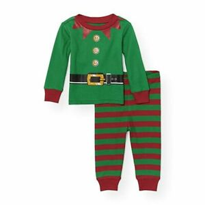 Christmas pajamas  PJs  holiday pajamas  jammies  snug fit  baby  children  toddler  red and green  6 months 12 months  2T  4T