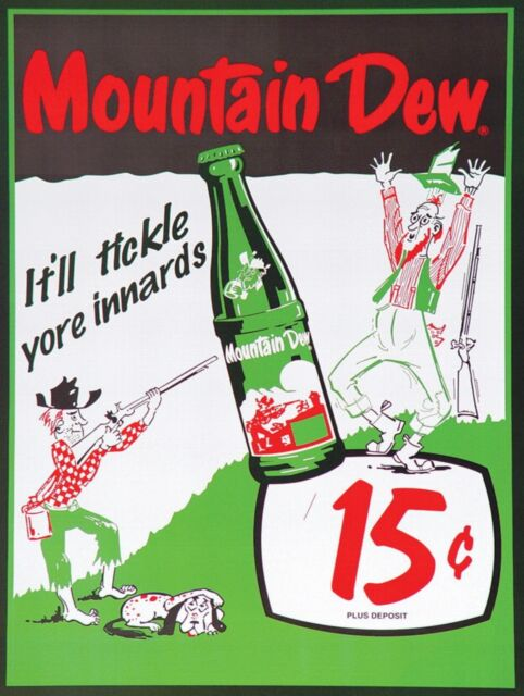 """Mountain Dew do it fer yew Vintage Reproduction Aluminum Sign 9/""""x12/"""""""