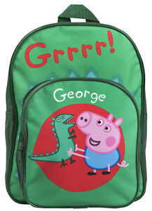 Peppa Pig George Pig Backpack Boys Dinosaur School Nursery ... 3de11ab722182