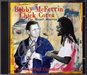 Chick-COREA-Signiert-THE-MOZART-SESSIONS-Bobby-McFERRIN-Piano-Concerto-20-23-CD