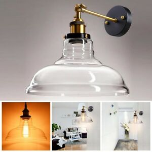 Vintage-Industrial-11-034-Flashlight-Glass-Light-Wall-Sconce-Edison-Lamp-Clear