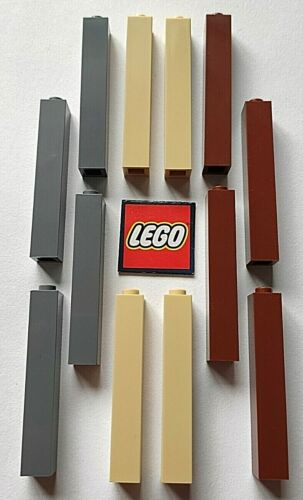 Design 2453 - Choose Colour LEGO 1x1x5 BRICKS with Solid Stud Packs of 4