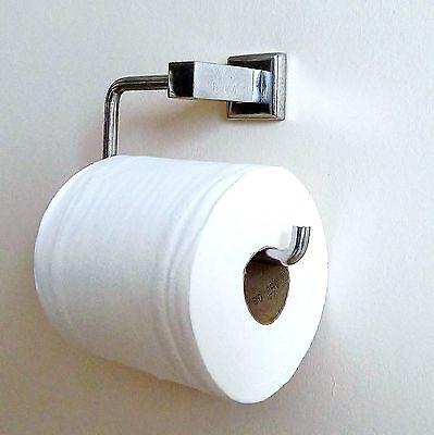 Chrome Toilette Rouleau Papier Supportmural carré pour contemporain et moderne