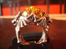 schwerer et Nox Unikat Ring 2 Drachen Drache Spinne 925er Silber RG 59 Gothic