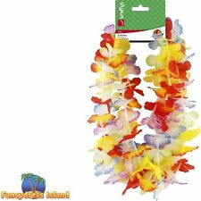 Hawaiian Straws Mixed Flowers Hawaii Luau Mens Womens Fancy Dress Accessory