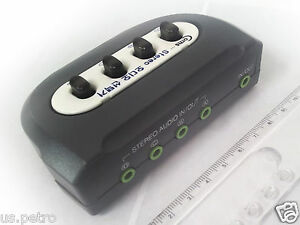 Stereo 35mm Audio Switch Box product 4 Port Manual Sharing plug