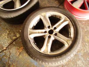 Genuine-Audi-A4-Sport-Jantes-en-Alliage-17-034-B8-Rechange-jante-5-Spoke-8K0601025BK-pneu-Scrap